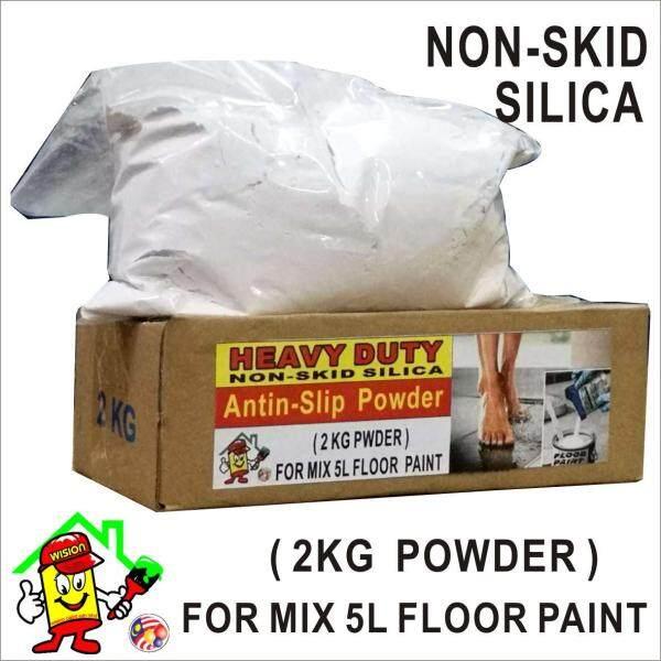 ANTI SLIP POWDER ( 2KG ) HEAVY DUTY  / ANTI SKID POWDER / NOT SKID SILICA FOR MIX 5Litre  FLOOR PAINT EPOXY / NON SKID SILICA MIX ADD EPOXY FLOOR PAINT