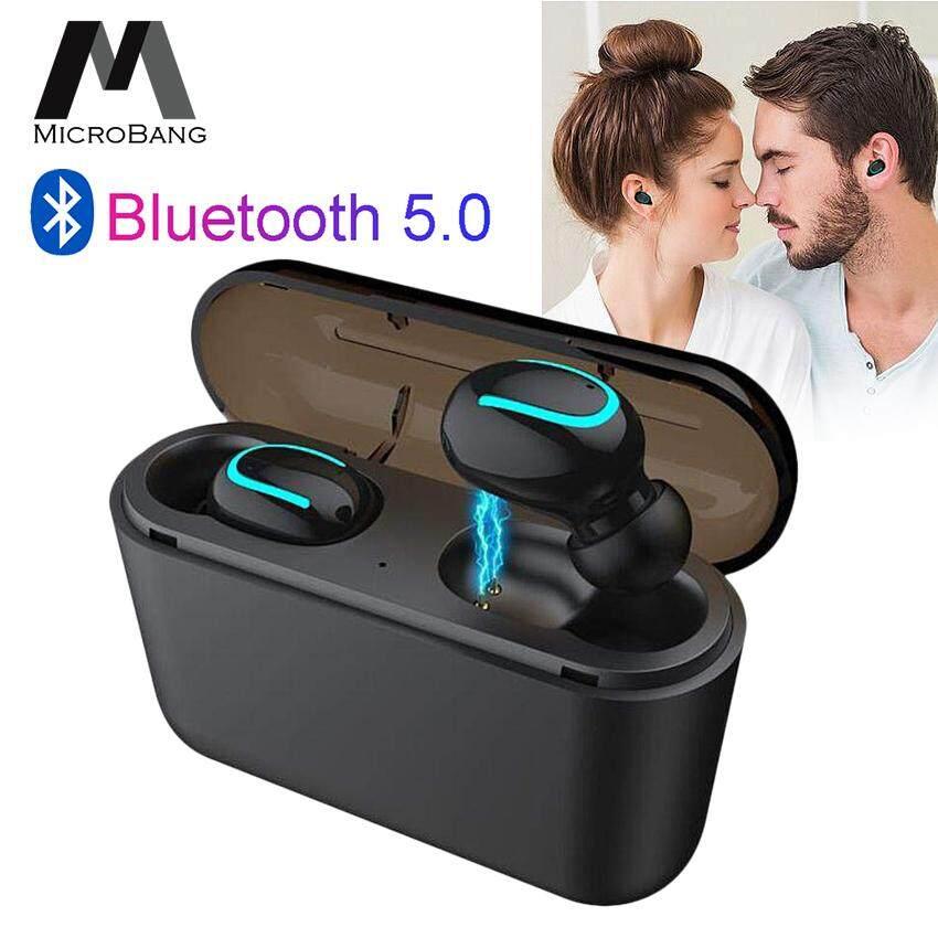 MicroBang TWS Wireless Earbuds Bluetooth Earphone Stereo In Ear Headphones V5.0 Bass Sweatproof Headsets