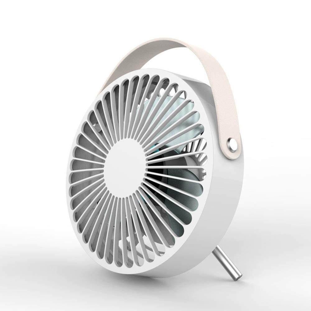 Auoker USB Desk Fan,1M/3.3FT Cable USB Mini Table Fan Electric Portable Personal Fan With Leather Handle & 2 Adjustable Stand For Office Home Desktop Traveling Camping(14*6.3*16.2cm)