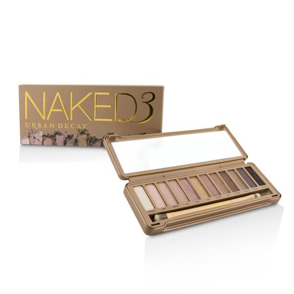 Buy URBAN DECAY - Naked 3 Eyeshadow Palette: 12x Eyeshadow, 1x Doubled Ended Shadow/Blending Brush One Size Singapore