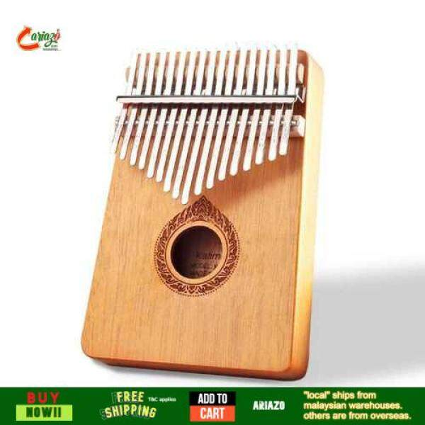 OVERSEAS Classic 17-Key Wooden Acoustic Thumb Piano Kalimba Mbira Exquisite Workmanship for Beginners Students (Orange) Malaysia