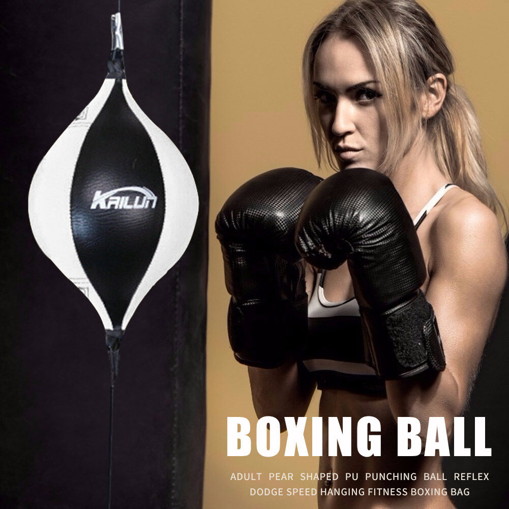 Pear Double End PU Punching Ball Reflex Speed Hanging Fitness Boxing Bag |  Lazada PH