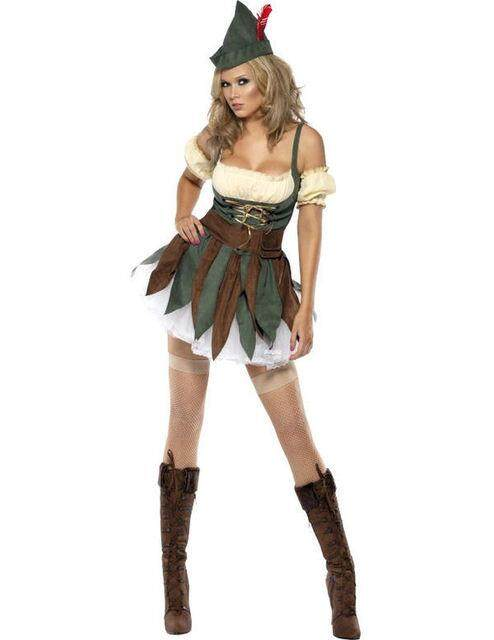 Halloween African Aboriginal clothing Robin Hood cosplay costume female version Robin Hood role playing clothing game suit