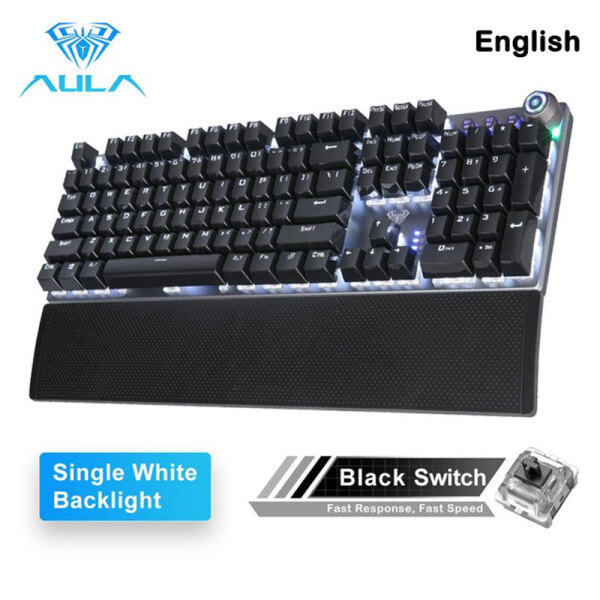 Allmax AULA F2088 Gaming Mechanical Keyboard Blue Brown Switch Wired Mix Backlit Keyboard 104 Keys Anti-ghosting For Gamer PC Desktop Singapore