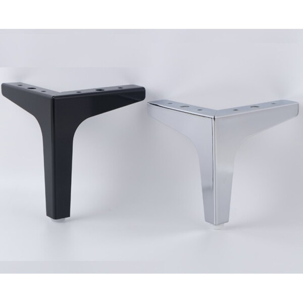 4 Pieces Of Triangular stainless steel Metal Furniture Legs Support Silver Coffee Table Legs Sofa Legs Furniture Accessories Foot Bed Riser