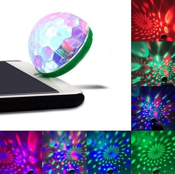【Đèn Quả Cầu Pha Lê Sàn Nhảy Mini USB Đèn Tiệc Đèn LED Ma Thuật Pha Lê Cầm Tay RGB Đèn Tiệc Tại Nhà Để Trang Trí
