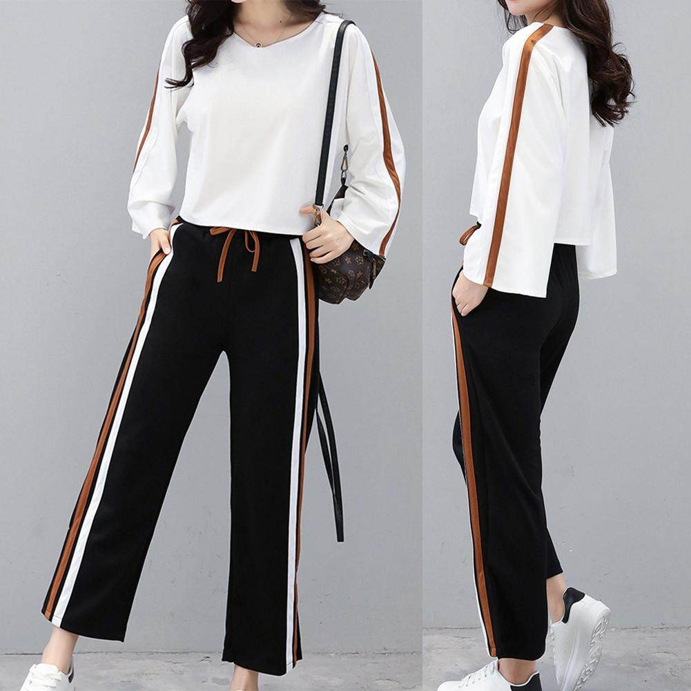 b54703e8bf6 Women Sweatsuit Set Sweatershirt and Pants Casual Style Loose Sport Suits