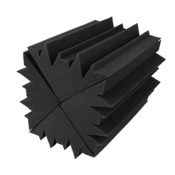 10PCS 4.6 in x 4.6 in x 9.5 Inch Soundproofing Insulation Foam Flame Retardant Bass Trap Acoustic Wall Foam