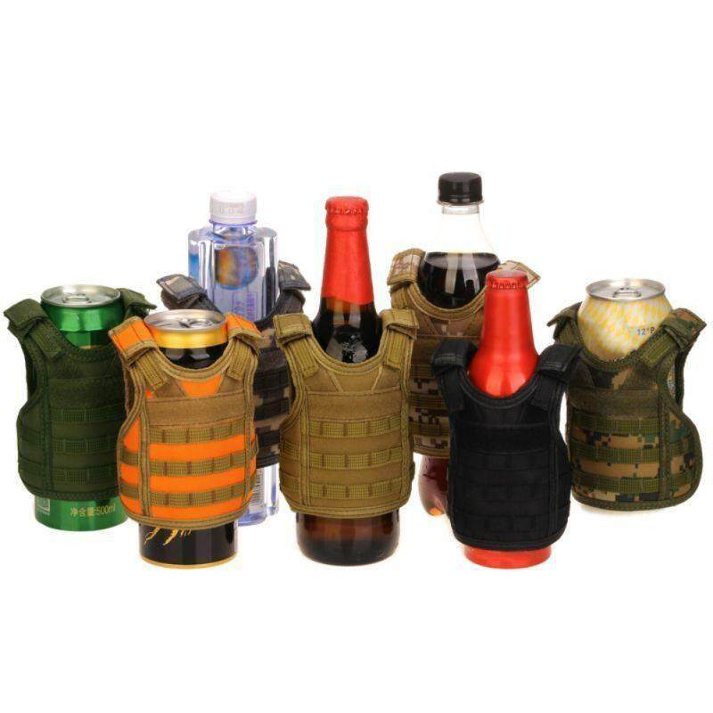 Military Tactical Mini Molle Vest Soda Beer Bottle Cooler Insulator Cover Multi By Xuderong Shopping Center.