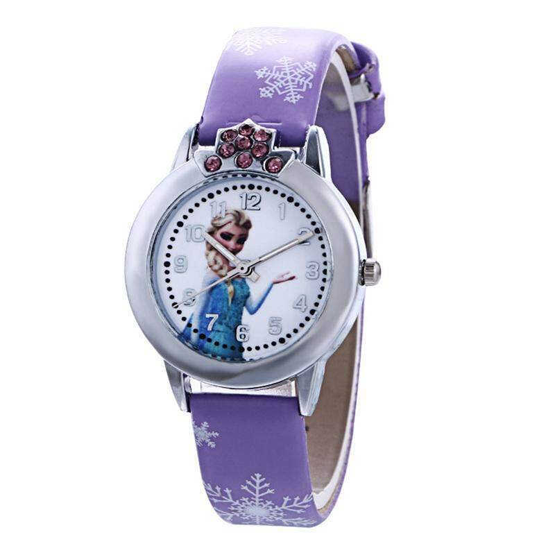 Frozen 2 Aisha Anna Princess Childrens Watch Primary School Girl Belt Quartz Watch Malaysia