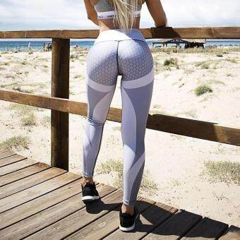 344d100f889c19 การส่งเสริม Women Printed Fitness Leggings Sporting Workout Legging  Polyester Leggins Honeycomb Digital Activewear Leggings ซื้อที่ไหน -  มีเพียง ฿260.00