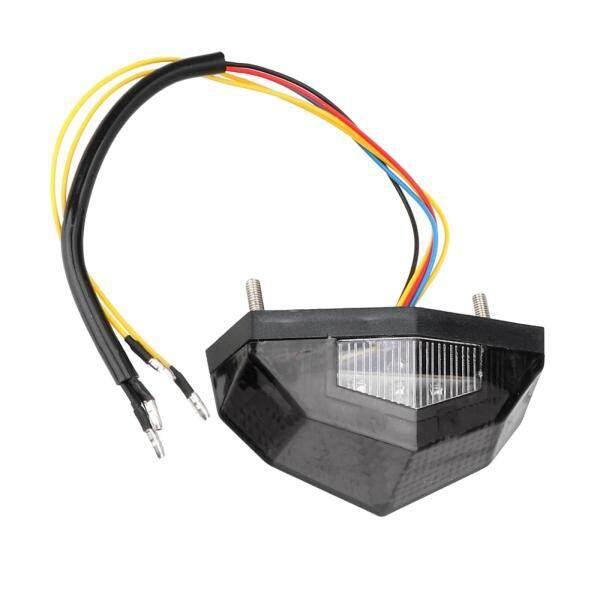 WDPlanet, Đèn LED Báo Rẽ Phanh Xe Máy Đèn Hậu Dừng Chạy Tín Hiệu Rẽ, Màu Xám