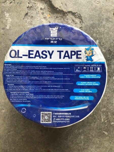 QL EASY TAPE WATERPROOFING TAPE LEAKING AND CRACK SOLUTION 100MM X 5METER FOR SLATE AWNING