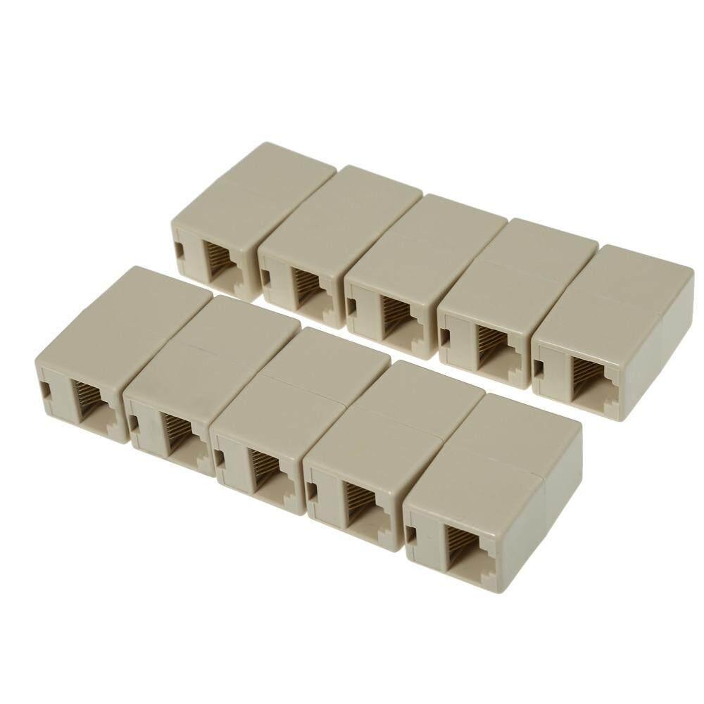 10 Pcs Rj45 Jaringan Kabel Lan Konektor Extender Adaptor By Marcus Realm.