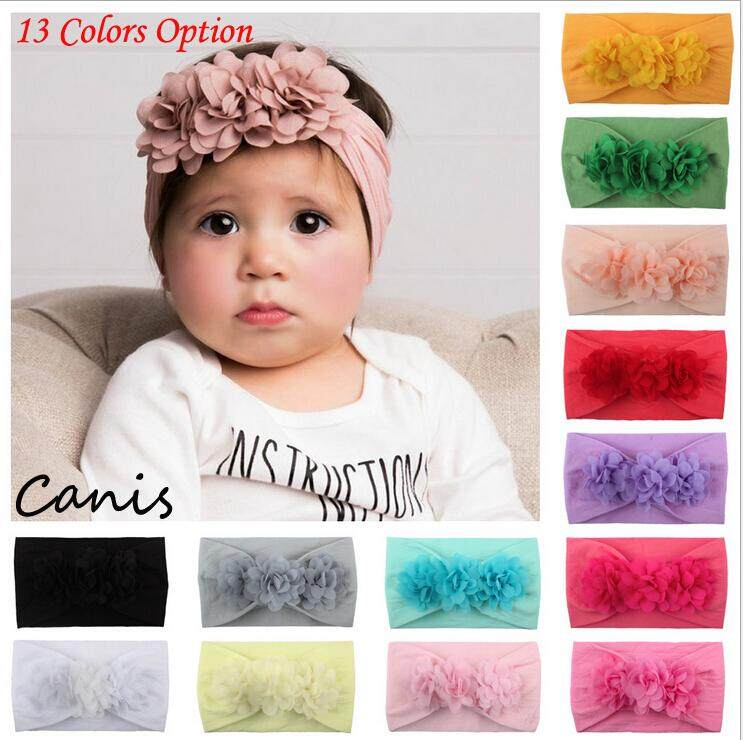 Cute Toddler Girls Baby Big Bow Hairband Headband Stretch Turban Knot Head Wrap