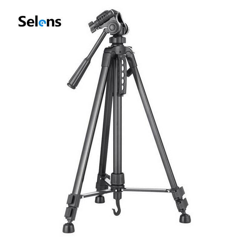 New 140cm 55inch Professional Tripod Stand For Camera Camcorder WF-3520 Black Tripod Tripe Extensor Para Foto Bất Ngờ Ưu Đãi Giá