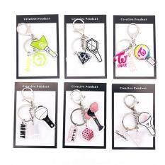KPOP Hỗ Trợ Lightstick Hình Dạng Acrylic Keychain BTS BLACKPINK EXO TWICE GOT7
