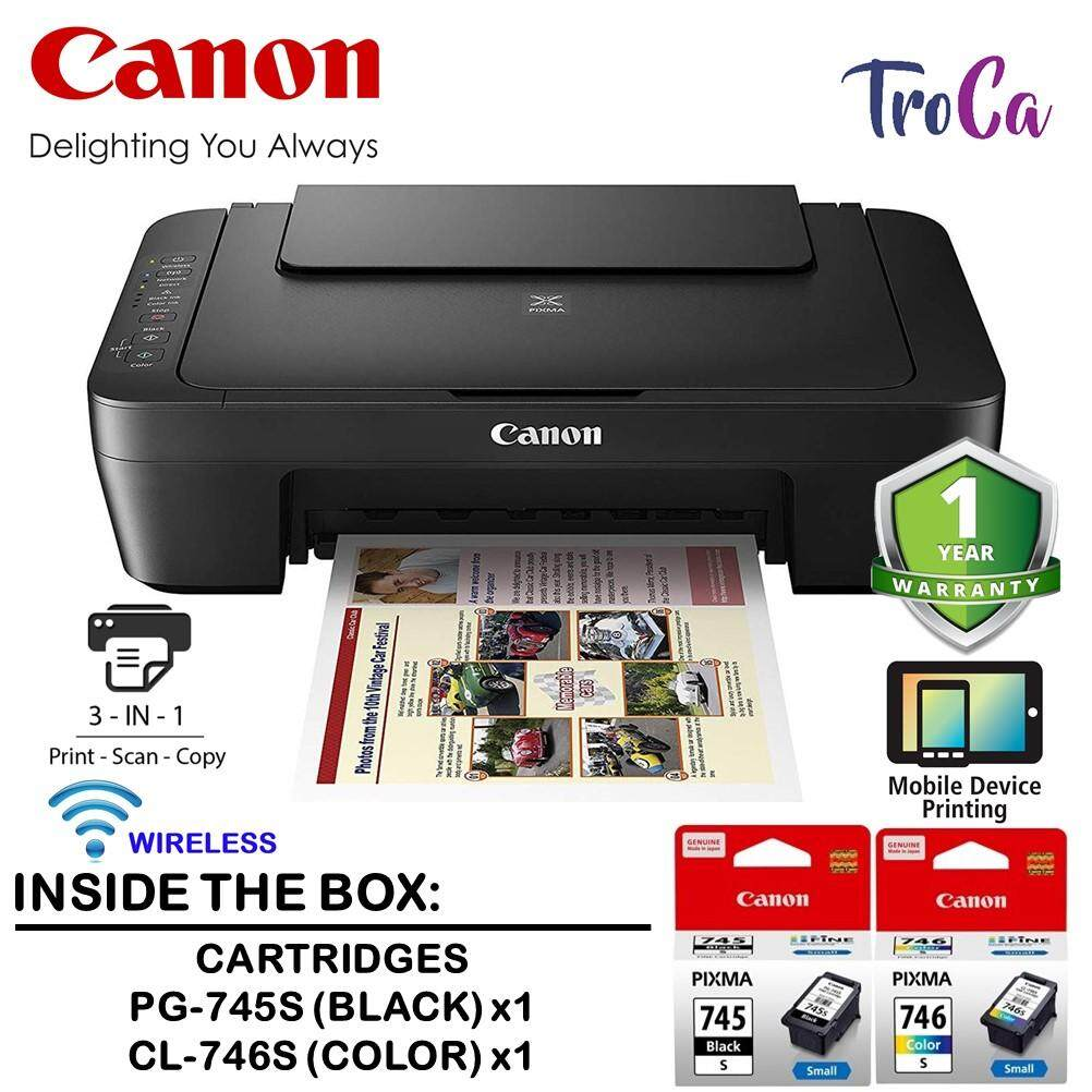 Canon Pixma Mg3070s Low Cost Cartridges All-In-One Low Cost Home Use Colour Printer Wireless Printer (print/scan/copy) By Troca.