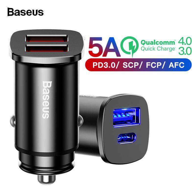 Baseus Quick Charge 4.0 3.0 Usb Car Charger For Xiaomi Mi 9 Huawei Supercharge Qc Qc4.0 Qc3.0 Type C Pd Fast Car Phone Charging.