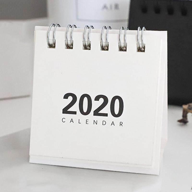 Xiaolong 2 Pcs 2020 Tối Thiểu Mini Để Bàn Lịch Tối Thiểu Tươi Lịch Để Bàn Văn Phòng Kế Hoạch Lịch