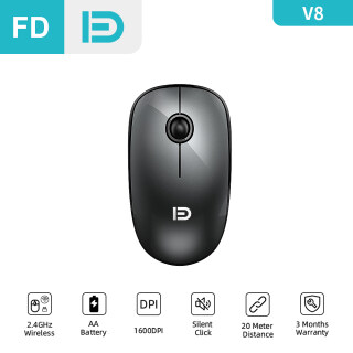 [NEW] FD V8 Wireless Mouse, 2.4G Silent Click Basic Mice, Fashion Cordless Mouse with Nano Receiver 1500 DPI Precise Control for Notebook Computer PC Laptop MacBook and Chromebook thumbnail