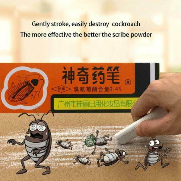 Repeller insecticide 2 Pcs Chalk Killer Cockroach Ants Powder Roach Chalk Kill Ants Repellent Medicine Pest Tool Pesticide Killing Bait Ant Lice Flea Bugs Cockroach Roaches Ant