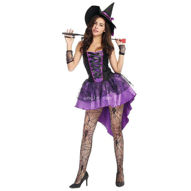 Uncle Sam Purple Swallowtail Witch Costume Halloween Costume Witch