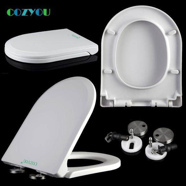 Slow close Toilet seat Double button Quick-Release PP U Elongated soft Close length 44 to 47.5cm,width 34 to 36cm GBP17254SU