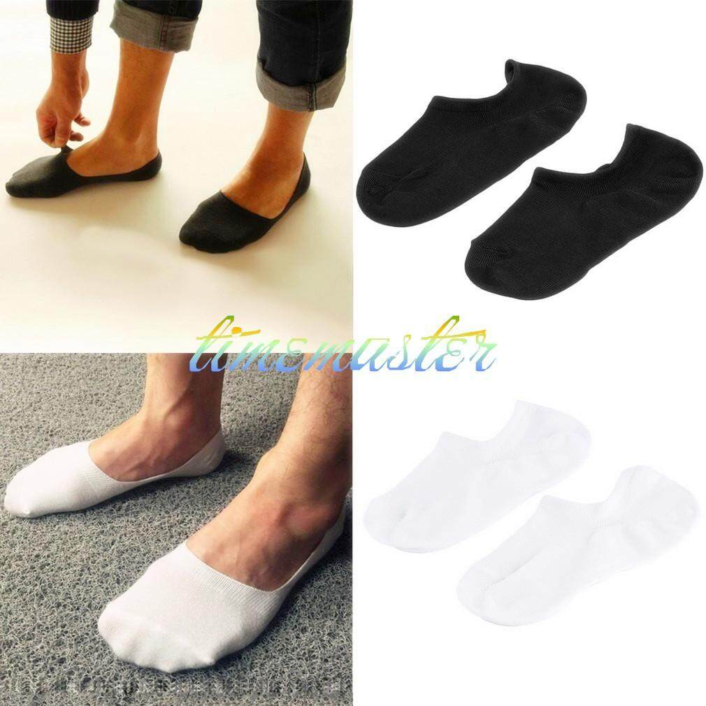 Hot New HOT Men Invisible Bamboo Fiber Causual Socks Loafer Boat Liner Low Cut Nonslip