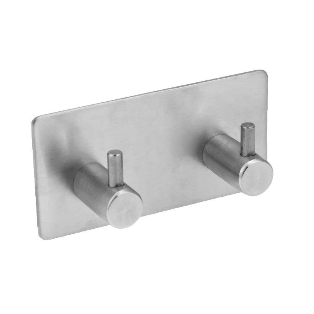 Adhesive Stainless Steel Hooks Bathroom Wall Door Clothes Coat Hat Hanger