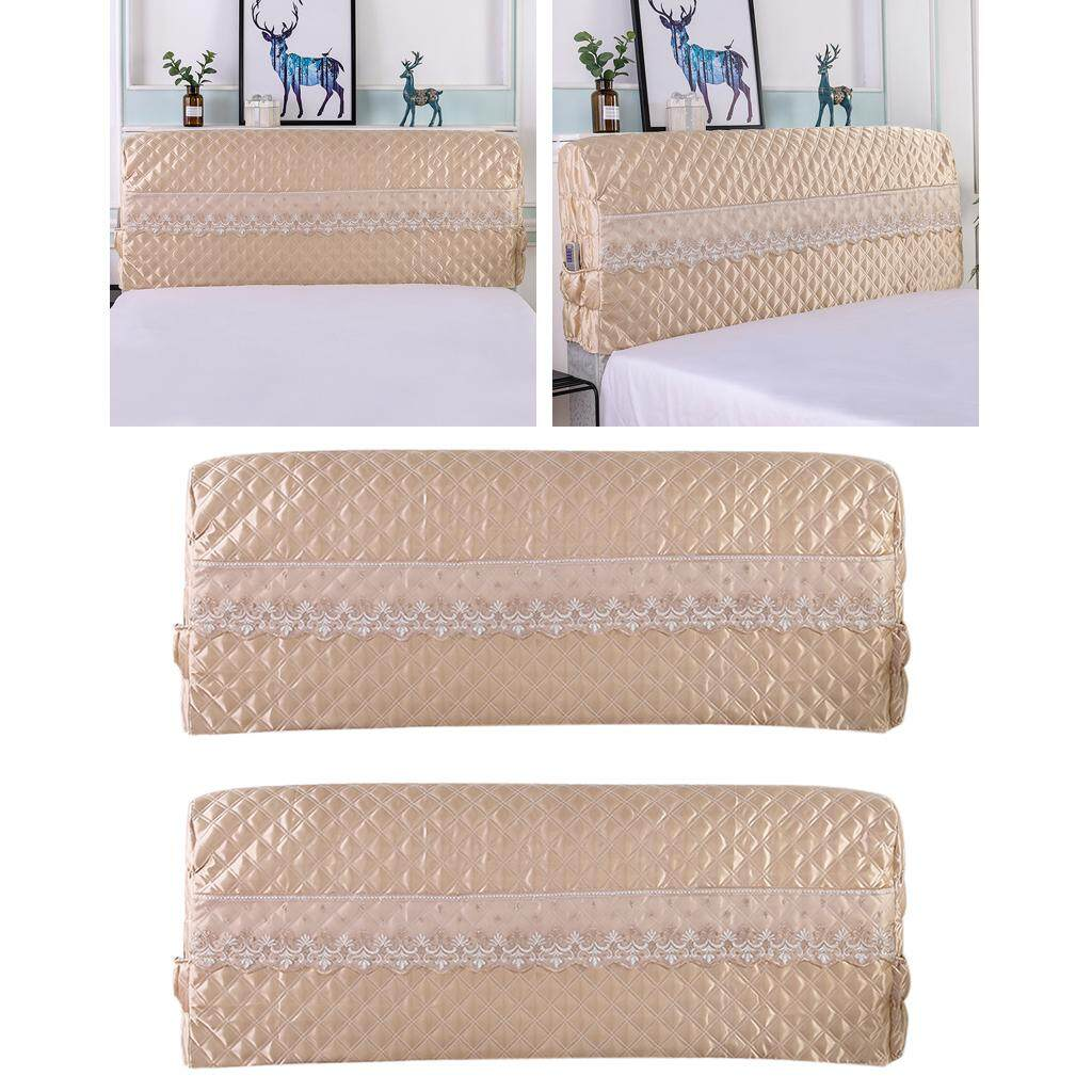 BolehDeals 2X Bed Headboard Cover Protector Stretch Dustproof Cover for Bedroom Deco
