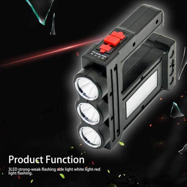 1 Chiếc Đèn LED Cầm Tay Đèn Sạc Đa Năng Đèn Rọi Tầm Xa Đèn Pin Cảnh Báo Chiếu Sáng Ngoài Trời