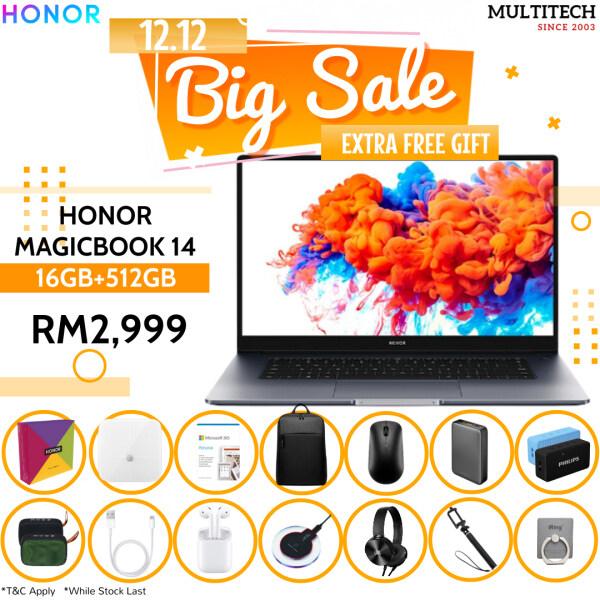Honor Magicbook 14 +16GB ram +512GB Memory With AMD R5 Procesor Malaysia