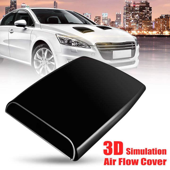 Autos Car Decorative 3D Simulation Air Flow Intake Scoop Bonnet Vent Cover Hood