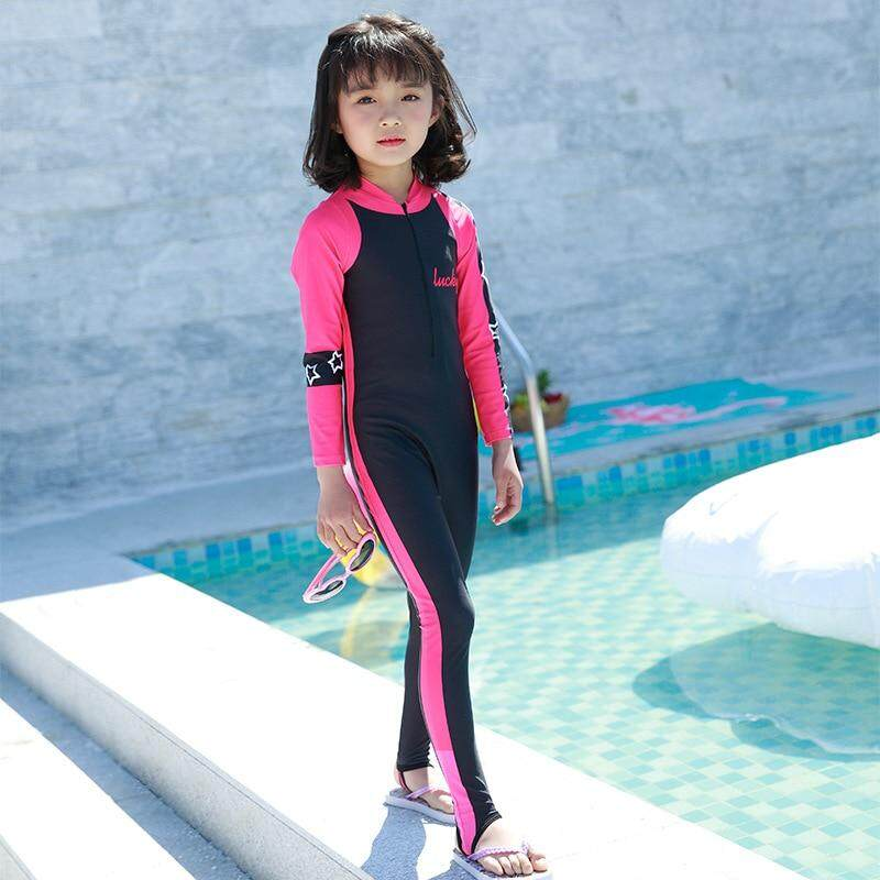 Giá bán Quần Bơi trẻ em Cho Bé Gái 2019 Cho Bé Quần Áo Nữ Con Bikini Winnie Gấu Mới Trẻ Em Bé Trai Dài Tay Trẻ Em Hình Thú