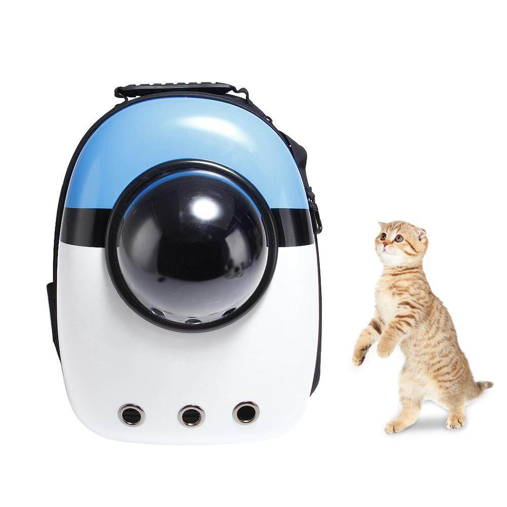Leegoal Portable Breathable Space Capsule Bubble Pet Carrier Backpack, Pet Bubble Dome Traveler Knapsack Multiple Air Holes Waterproof Lightweight Bag For Cats Petite Dogs & Small Animals By Leegoal.