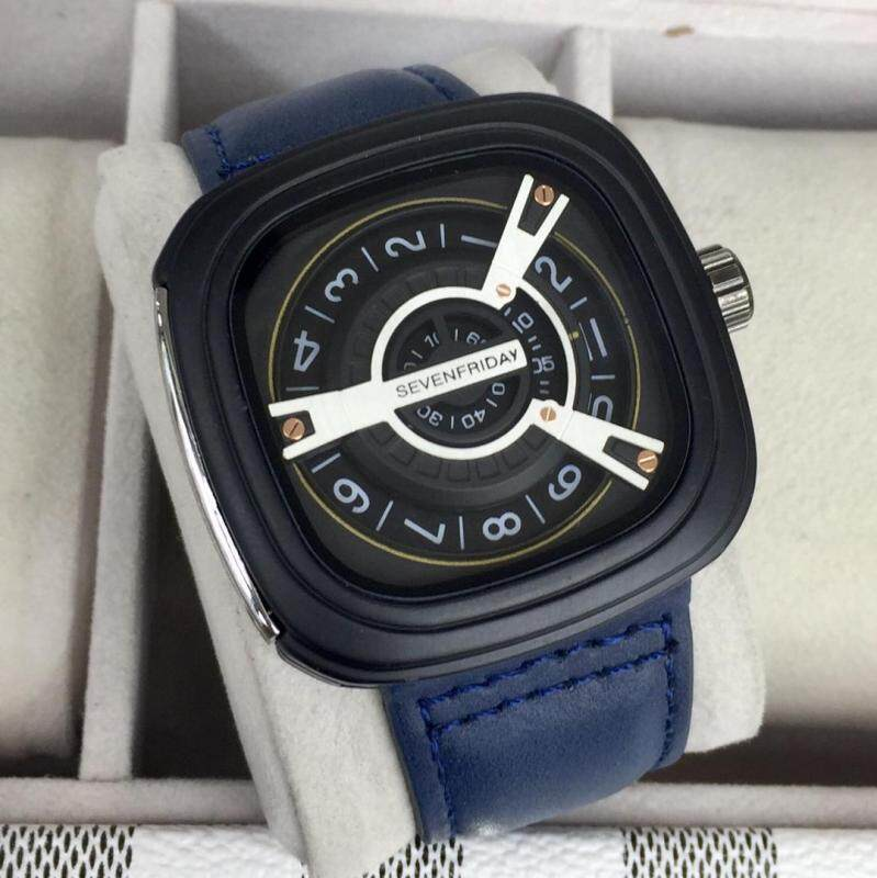 New Fashion_Seven_Friday_Quartz Movement Fashion/Casual Watch for Men Good Quality Leather Batter Then Picture Genuine Gift Box Malaysia