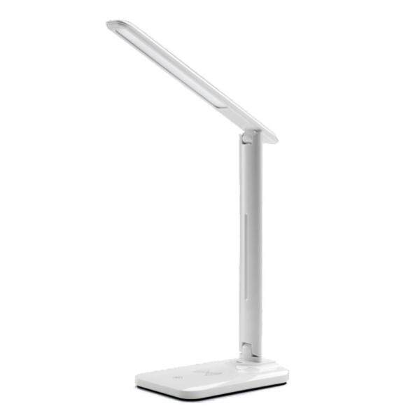 LED desk lamp with QI wireless charging desk lamp USB adjustable output port flexible modern office light dimming