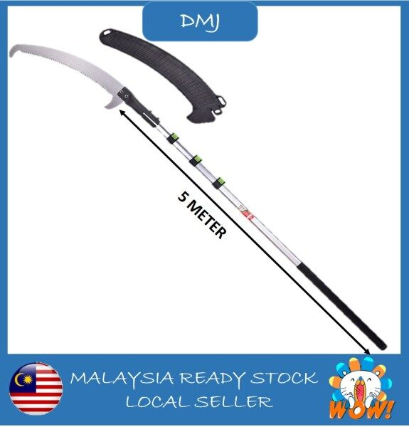 5 Meter Double Hook Saw High Branch Saw High Altitude Saw Aluminum adjustable Pole / Galah aluminum boelh laras 5 Meter