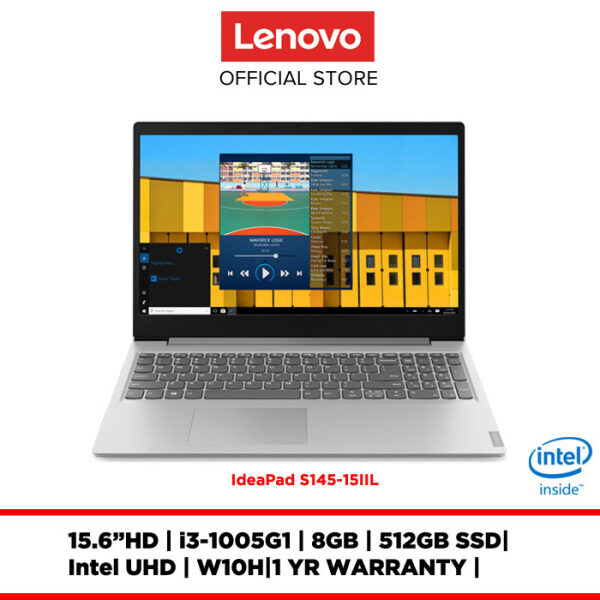 Lenovo Notebook Laptop ideapad S145-15IIL Platinum Grey 81W8001AMJ/81W8001BMJ 15.6HD/I3-I5/8GB/512GBSSD/INTELUHD/W10H/1Y Malaysia