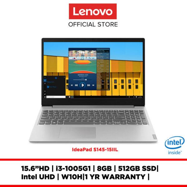 Lenovo Notebook Laptop ideapad S145-15IIL Platinum Grey 81W8001AMJ/81W8001BMJ 15.6HD/I3-I5/8GB/512GBSSD/INTELUHD/W10H/1Y Malaysia