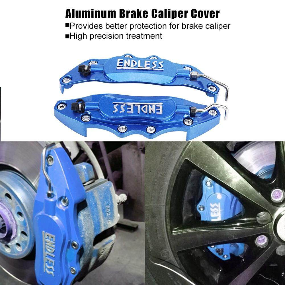 2pcs Car Aluminum Endless Brake Caliper Protector Cover For Wheel Hub 14in-15in Small By Shanyustore.