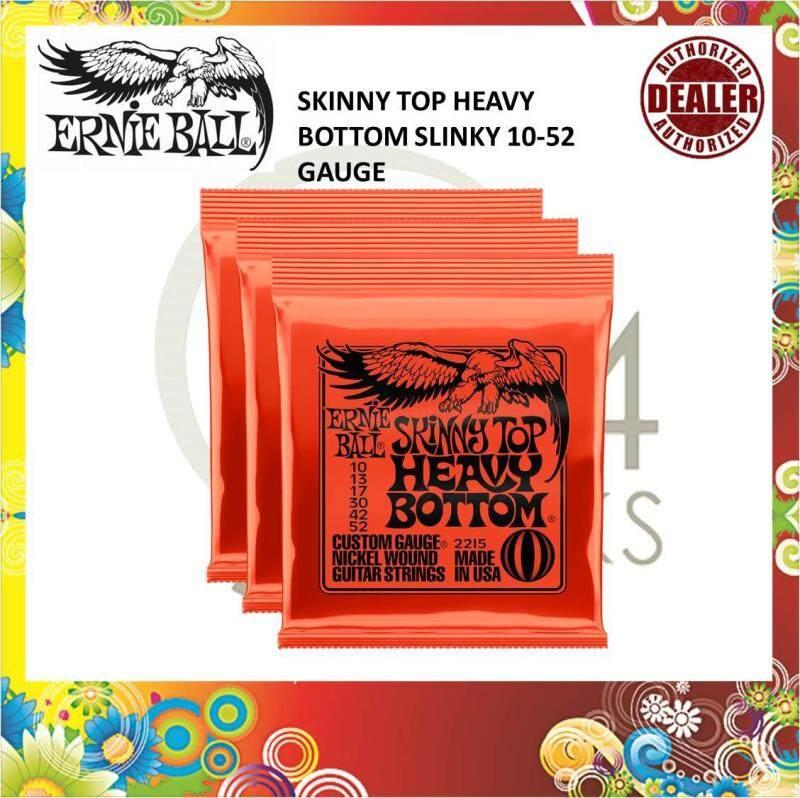 Ernie Ball 2215 Slinky Top Heavy Bottom Electric Guitar Strings 3p set 10-52 ( Ernieball 2215 ) Malaysia