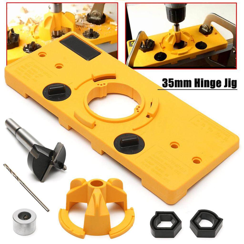 Cup Style Hinge Boring Jig Drill Guide Set Door Hole Template Tool 35MM