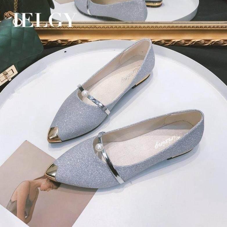 Giày Nữ IELGY Peas, Giày Đế Bệt Mũi Nhọn Đế Nông, Giày Đế Mềm Thường Ngày Cho Học Sinh giá rẻ