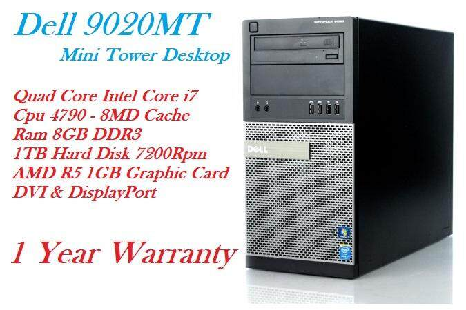 (REFURBISHED) DELL OPTIPLEX 9020 MT INTEL CORE i7-4790 4TH GEN CPU-8GB DDR3 RAM-1TB HDD-DVD RW-R5 GRAPHIC CARD/WIN 7 PRO Malaysia
