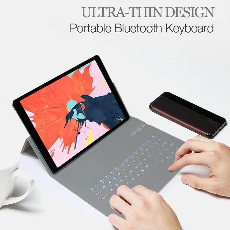 Siêu mỏng Không Dây Bàn Phím Bluetooth Bao da PU Cho Ipad Pro 10.5 iPad Pro2018 11 inch 10 -11 inch Có Khung Bảo Vệ