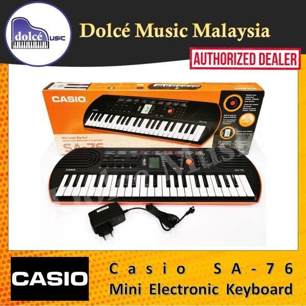 Casio - SA-76 Mini Electronic Keyboard (Orange) Malaysia