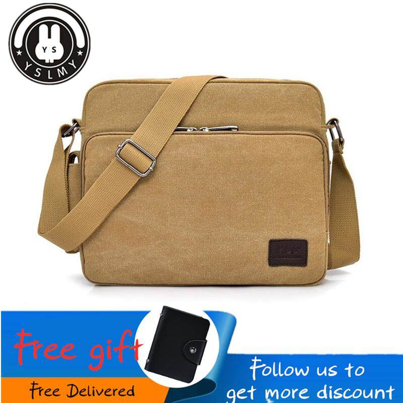 100% Quality 2019 Mens Bags Fashion Travel Canvas Shoulder Bags Sport Messenger Phone Bags Men Crossbody Satchel Storage Bags 100% High Quality Materials Bridal & Wedding Party Jewelry