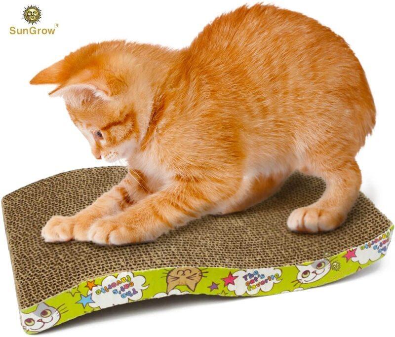 Suntrồng Scratcher Búp Bê Cho Mèo Meow Bàn Cào Móng Cho Mèo Cưng Với Thiết Kế Sóng Cong-Đáp Ứng Bản Năng Cào Tự Nhiên Của Mèo Con Của Bạn-Lưu Đồ Nội Thất Của Bạn-Được Làm Bằng Vật Liệu Thân Thiện Với Môi Trường